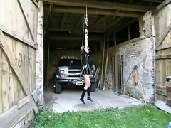tied, femdom, shorts, girls, wild, outdoors, bondage, spanking, bdsm, leather, skirt