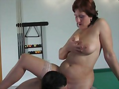 Russian mom viola fucks young guy
