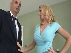 Blonde and busty arousing milf angela