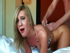 Tight gf chloe brooke banged and facial