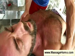 ass, gay, bear, massage, handjob