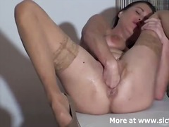 Fist fucking the wife till she pisses herself in o