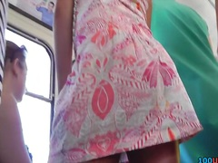 Youthful playgirl has hot legal age teenager up petticoat arse