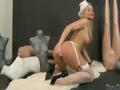 Silvia Saint, masturbation, blonde, silvia saint, tits, big boobs, natural boobs
