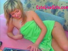 Awesome teen blonde with perfect cherry tits