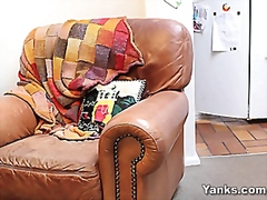 Masturbation on her mums couch