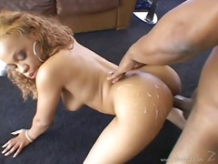 Bootylicious babe melrose foxxx gets her ass sprayed with cum after a hot bang