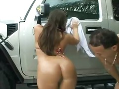 Hardcore outdoor scene with sergio and his gorgeous slut named vanessa lee