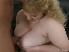 Fatty and crazy bitch angelynne hart sucks her fucker's cock and rubs her huge boobs