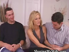 blonde, share, foreplay, brook, cuckold, swingers, wife