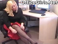 office, secretary, pantyhose