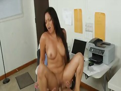 Super sexy asian babe with big delicious tits named adrianna luna wants to helps her