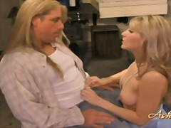 Cock loving bitch ashley fires fills her sugary hot mouth with a giant beaver