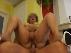 blonde, granny, hard, couch, mature, mom