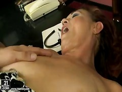 Horny mature woman lupita enjoys the intense pleasure as she gets rammed by a huge stiff wang