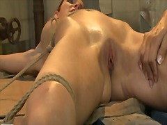 Mandy bright fingered hard a tied sexy hottie