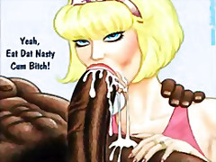 interracial, bigdick, cartoon, animation, funny, john, personal, black, dick, big