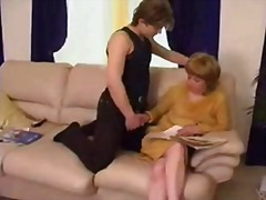 mom, hairy, boy, lick, aunt, pussy