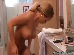 pussy, blonde, bathroom, model, cowgirl, busty, erotic, riding, babe, shower, slim, toilet