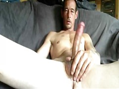 wanking, solo, big, big cock, masturbation, big boobs, cock, gay