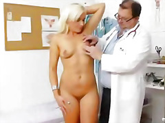 mom, blonde, examination, milf, gyno, doctor, mature, wife, bizarre, pussy, check, enema