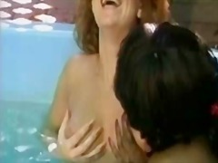 nasty, tongue, lesbos, black, pussy, girls, beautiful, retro, sensual, lesbian, white, erotic, playing, pool