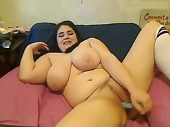 Bbw cums with her toy for u