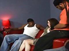 Interracial group sex is what she wants