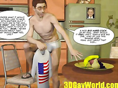 first, hunk, masturbation, time, queen, cartoon, insertion, toon, banana, funny, male, barebacking, gay, voyeur, american