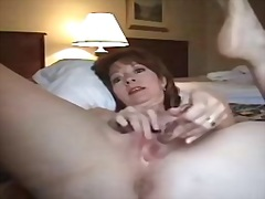 mature, woman, hotel, masturbation