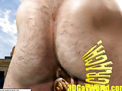 animation, male, funny, bdsm, 3d, test, ass, cartoon, hunk, gaping