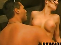 big, tits, gym, glamour, muscular, kissing, couple, brunette