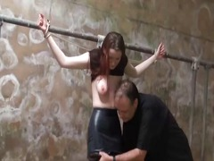 tied, filthy, punishment, dirty, spanking, whip, torture, bdsm, sascha, breasts