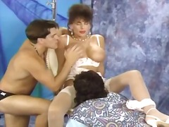 vintage, busty, threesome, classic,