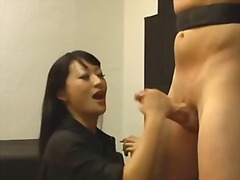 domination, jerking, restraints, femdom, bound, cumshot, real, homemade, fetish, tied, couple, asian
