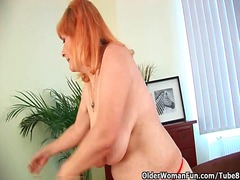 ouer vrou, ma, blond, milf, ouer