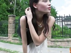 Damn hot brunette hitch hikes and fucked
