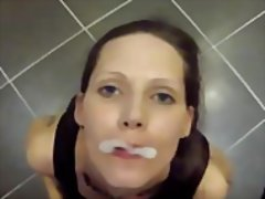 Bukkake loving cum fetish slut