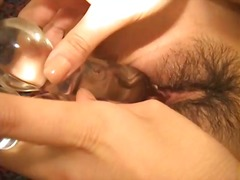 orgasm, wet, clitoris, contractions, masturbation, toys, stimulate, glasses, pleasure, jilling, shaved, dildo,
