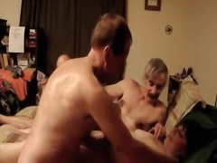 Older wife receives wild and fuck with two dudes