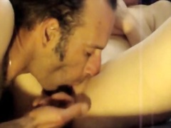 Her lover is fingering her pussy