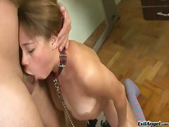 Stefany gold gets face pounded by guys sturdy cock