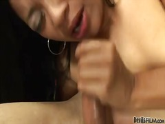 Exotic lucky starr is ready to spend hours sucking mans cock non-stop