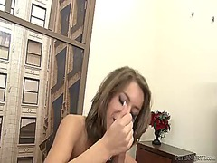 Breathtakingly hot goddess presley hart gets down on her knees to gives headjob to handsome guy
