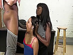 threesome, bbc, white, cock, black, interracial, girls, big