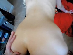 Sucking the mighty cock of my bf