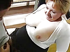 Slutty granny enjoys 2 rods