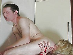 Minna a and tobias c switch roles and she sticks a dildo up his ass
