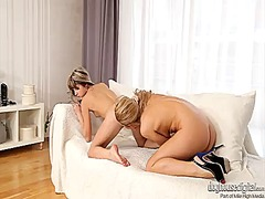 Gina gerson gets her lesbian beaver eaten out by angel snow the way she loves it