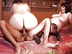 2 non-professional large delightsome woman get drilled by 2 boyz